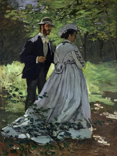 The Promenaders, or Bazille and Camille, 1865-Claude Monet-Giclee Print