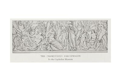 The Prometheus Sarcophagus, after the Original in the Capitoline Museum--Giclee Print