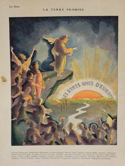 The Promised Land, United States of Europe: Aristide Briand--Giclee Print