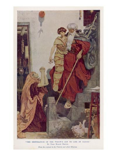 The Prophet Elijah Restores a Widow's Son to Life--Giclee Print
