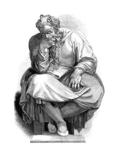 The Prophet Jeremiah, 1844-WJ Linton-Giclee Print