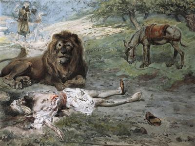 The Prophet Slain by the Lion-James Jacques Joseph Tissot-Giclee Print