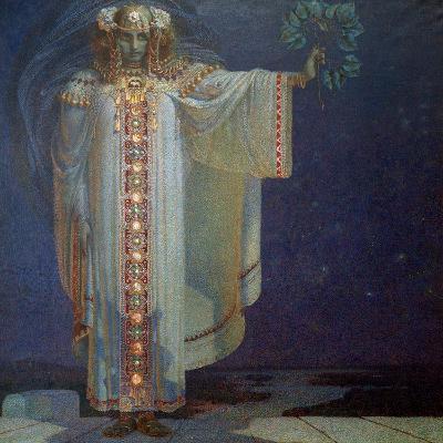 The Prophetess Libuse, 1893-Vitezlav Karel Masek-Giclee Print