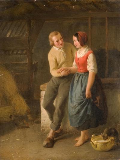 The Proposal-Hippolyte Bruyeres-Giclee Print