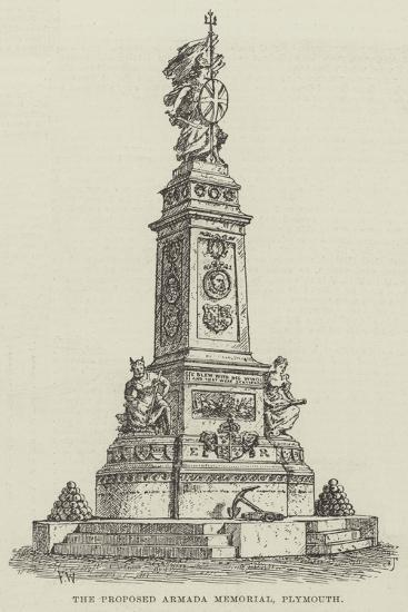 The Proposed Armada Memorial, Plymouth-Frank Watkins-Giclee Print