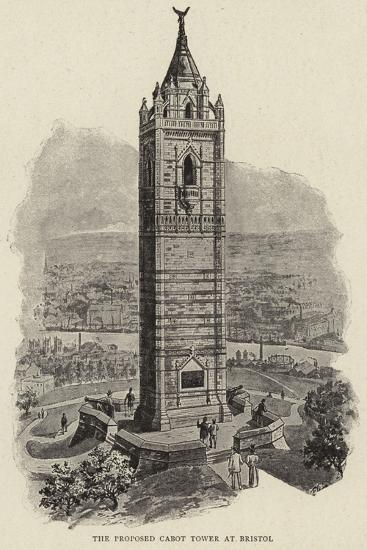 The Proposed Cabot Tower at Bristol--Giclee Print