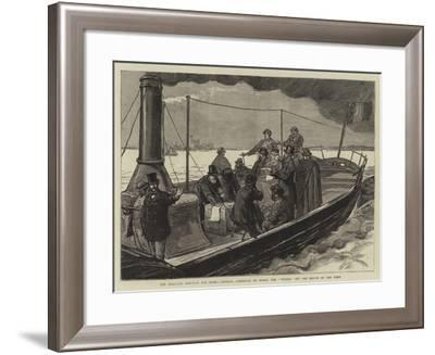 The Proposed Harbour for Rome, General Garibaldi on Board the Tevere Off the Mouth of the Tiber-Joseph Nash-Framed Giclee Print