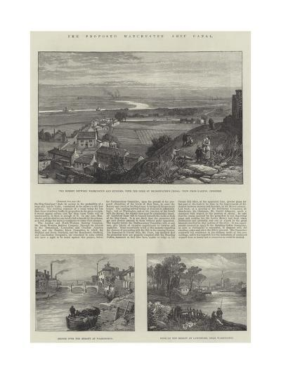The Proposed Manchester Ship Canal-James Burrell Smith-Giclee Print