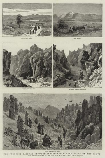 The Proposed Railway Between Suakim and Berber, Views on the Route--Giclee Print
