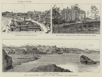The Proposed Visit of the Queen to Biarritz--Giclee Print