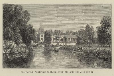 The Proposed Waterworks at Thames Ditton, the River Side as it Now Is--Giclee Print