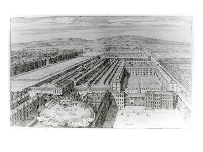 The Prospect of Grays Inn, 1720-English School-Giclee Print