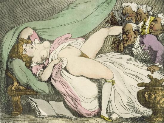 The Prostitute Observed, 1808-17-Thomas Rowlandson-Giclee Print
