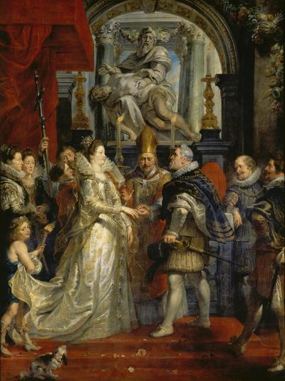 The Proxy Marriage of Marie De Medici and Henri Iv, 5th October 1600, 1621-25-Peter Paul Rubens-Giclee Print