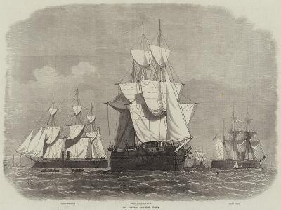 The Prussian Iron-Clad Fleet-Edwin Weedon-Giclee Print