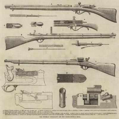 The Prussian Needle-Gun and the Snider-Enfield Rifle--Giclee Print