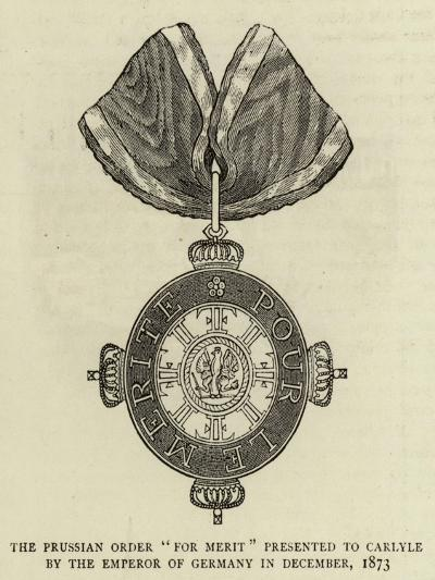 The Prussian Order For Merit Presented to Carlyle by the Emperor of Germany in December 1873--Giclee Print