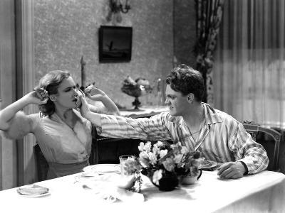 The Public Enemy, Mae Clarke, James Cagney, 1931, Domestic Fight With Grapefruit--Photo