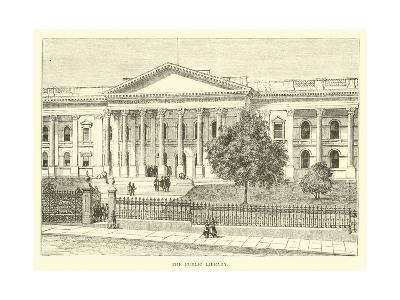 The Public Library--Giclee Print