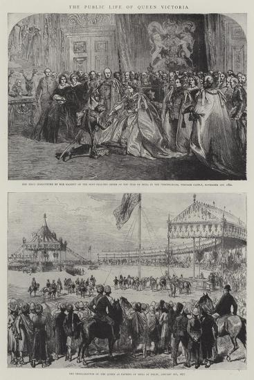 The Public Life of Queen Victoria-Charles Robinson-Giclee Print