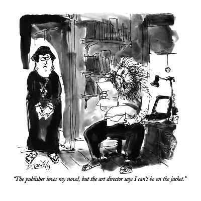 """""""The publisher loves my novel, but the art director says I can't be on the?"""" - New Yorker Cartoon-Donald Reilly-Premium Giclee Print"""