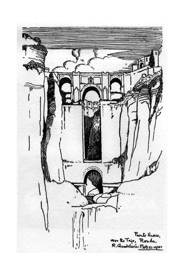 The Puente Nuevo, Ronda, Southern Spain--Giclee Print