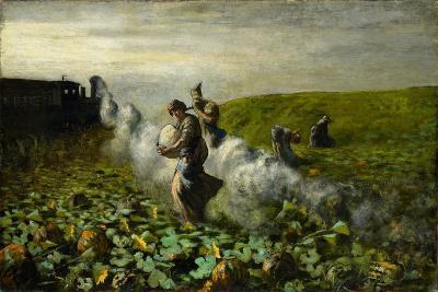 The Pumpkin Harvest, 1897-Giovanni Segantini-Giclee Print