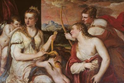 The Punishment of Cupid (Venus Blindfolding Cupid)-Titian (Tiziano Vecelli)-Giclee Print