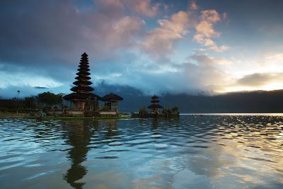 The Pura Ulun Danu Bratan Temple at Sunrise-Alex Saberi-Photographic Print