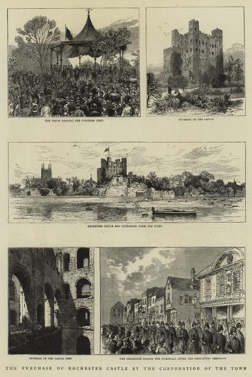 The Purchase of Rochester Castle by the Corporation of the Town--Giclee Print