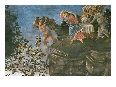 The Purification of the Leper and the Temptation of Christ, in the Sistine Chapel, 1481-Sandro Botticelli-Giclee Print