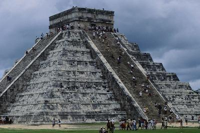 The Pyramid in Kukulkan known as the Castle in Chichen Itza--Photographic Print