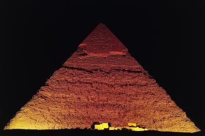 The Pyramid of Khafre at Night, Giza Necropolis--Photographic Print