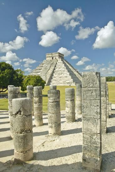 The Pyramid of Kukulkan, (Also known as El Castillo), a Mayan Ruin, as Seen from the Thousand Colum-VisionsofAmerica/Joe Sohm-Photographic Print