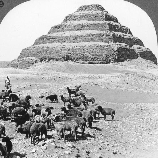 The Pyramid of Sakkarah, Egypt, 1905-Underwood & Underwood-Photographic Print