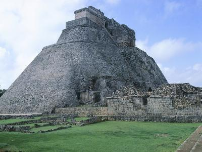The Pyramid of the Magician, Puuc Style Building in Uxmal--Photographic Print