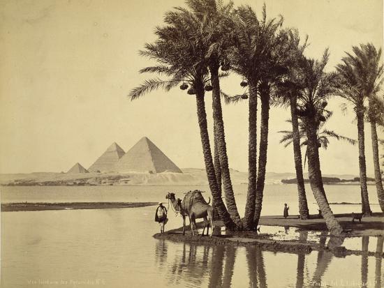 The Pyramids, 1860-69-G^ Lekegian-Photographic Print