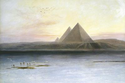 The Pyramids at Gizeh, 19th Century-Edward Lear-Giclee Print