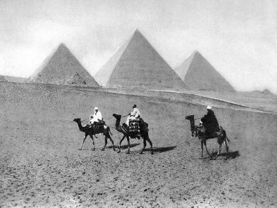 The Pyramids of Giza, Cairo, Egypt, C1920S--Giclee Print