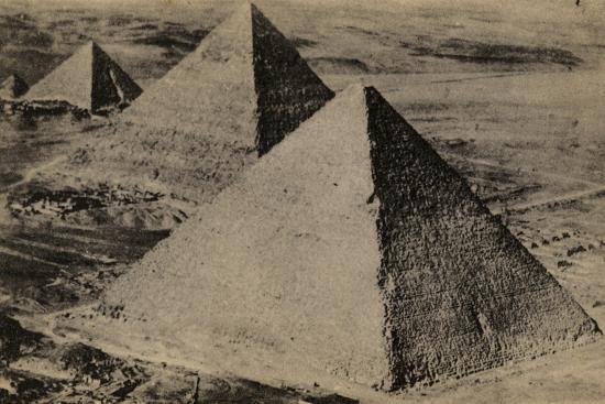 The Pyramids of Giza, Egypt--Photographic Print