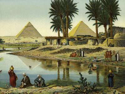 The Pyramids of Gizeh--Giclee Print