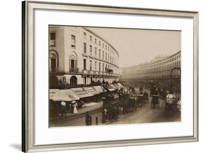 The Quadrant, Regent Street, London, C.1884--Framed Photographic Print