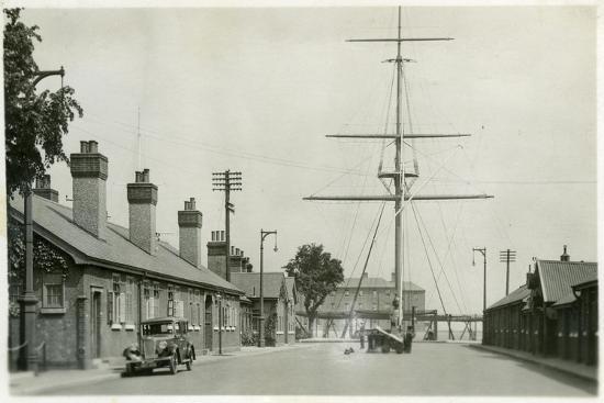 The Quarterdeck, Royal Navy Training Establishment, Shotley, Suffolk, 1936--Giclee Print