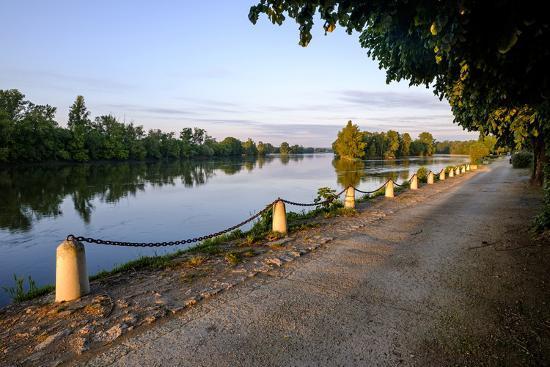 The quay along the Loire River, Chouze sur Loire, Loire Valley, UNESCO World Heritage Site, Indre e-Nathalie Cuvelier-Photographic Print