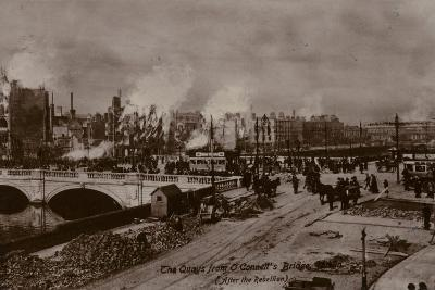 The Quays from O'Connell's Bridge, Dublin, 1916--Photographic Print