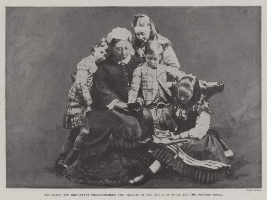 The Queen and Her Infant Grandchildren, the Families of the Prince of Wales and the Princess Royal--Giclee Print