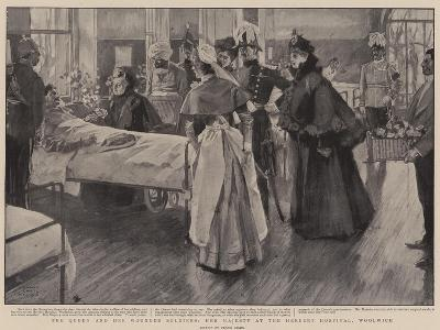 The Queen and Her Wounded Soldiers, Her Majesty at the Herbert Hospital, Woolwich-Frank Craig-Giclee Print