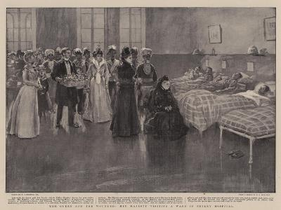 The Queen and the Wounded, Her Majesty Visiting a Ward in Netley Hospital-William Hatherell-Giclee Print