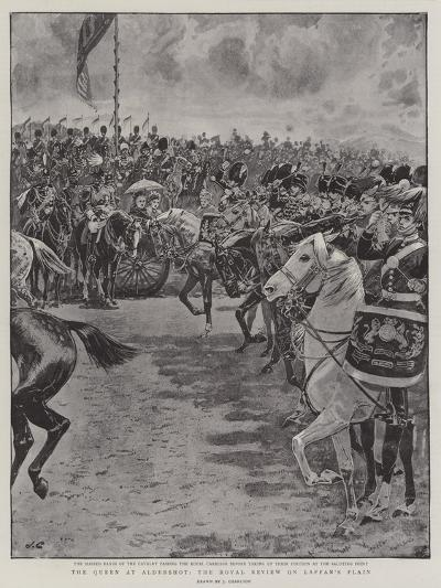 The Queen at Aldershot, the Royal Review on Laffan's Plain-John Charlton-Giclee Print