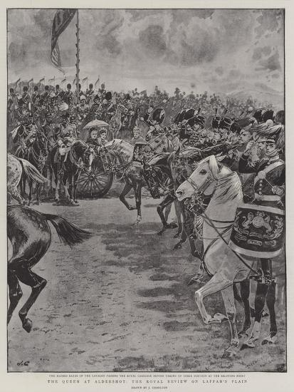 The Queen at Aldershot, the Royal Review on Laffan's Plain-John Charlton-Giclee Print